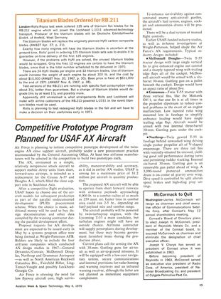 Titanium Blades Ordered for Rb.211, Page: 25 - May 4, 1970 | Aviation Week