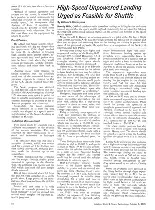 High-speed Unpowered Landing Urged as Feasible for Shuttle, Page: 16 - October 5, 1970   Aviation Week