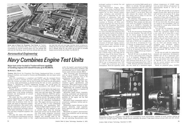 Navy Combines Engine Test Units, Page: 54 - November 9, 1970   Aviation Week