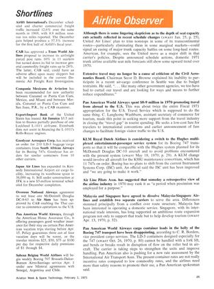 Shortlines, Page: 25 - February 1, 1971 | Aviation Week