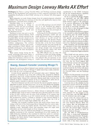 Boeing, Dassault Consider Licensing Mirage Fi, Page: 18 - April 19, 1971 | Aviation Week