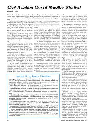 Navstar Hit By Delays, Cost Rises, Page: 26 - May 8, 1978 | Aviation Week