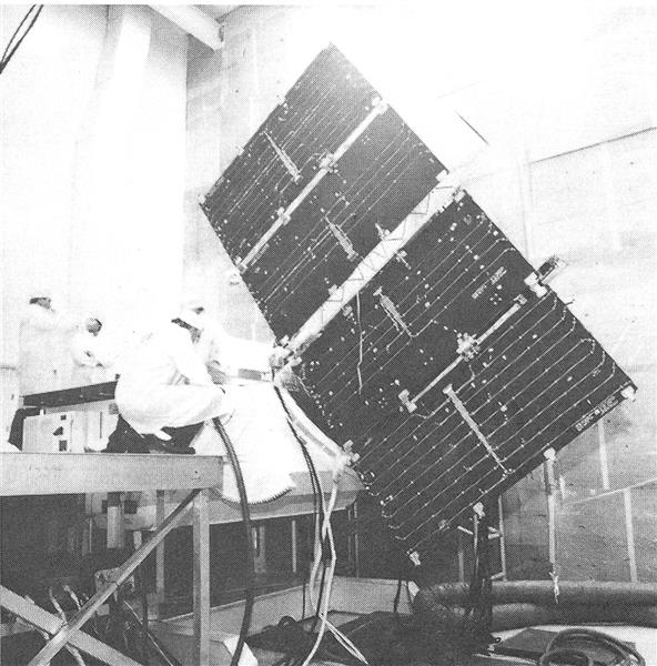 Rockwell Technicians Prepare Production Navstar Satellite, Page: 64 - MAY 20, 1985 | Aviation Week