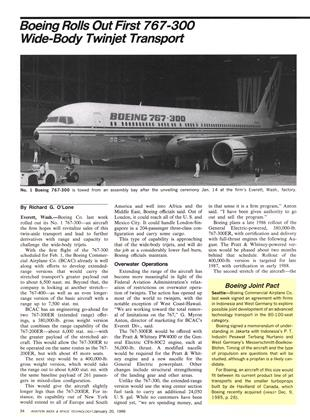 Boeing Joint Pact, Page: 34 - JANUARY 20, 1986 | Aviation Week