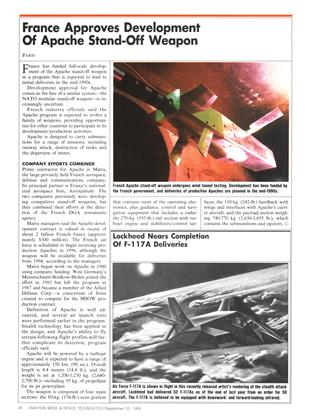 Lockheed Nears Completion of F-117a Deliveries, Page: 20 - SEPTEMBER 25, 1989 | Aviation Week