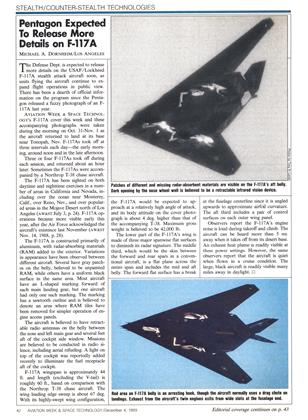 Pentagon Expected to Release More Details on F-117a, Page: 42 - DECEMBER 4, 1989 | Aviation Week