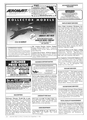 Advertisement, Page: 242 - SEPTEMBER 3, 1990 | Aviation Week