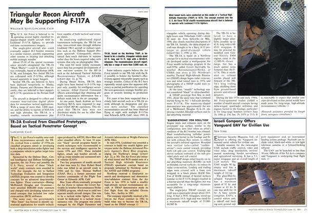 Triangular Recon Aircraft May Be Supporting F-117a, Page: 20 - JUNE 10, 1991 | Aviation Week