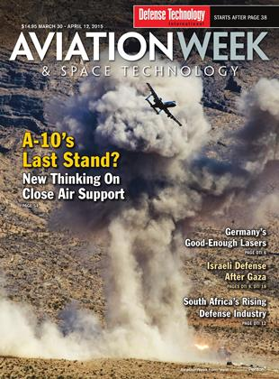 Cover for the MARCH 30 - APRIL 12 Defense Technology International 2015 issue
